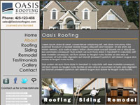 Seattle Webdesign - Oasis Roofing and Construction